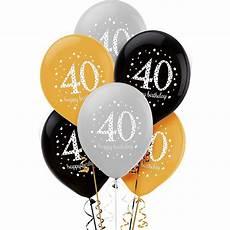40th birthday balloons 6ct sparkling celebration
