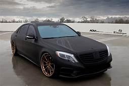 Matte Black Mercedes Benz S550  ADV10 Track Spec CS Wheels