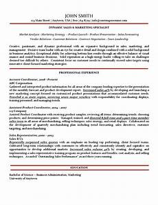 marketing resume bulet points sales marketing specialist resume traditional variation with subtle use of color no bullet