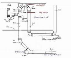 Kitchen Sink Vent Diagram by 25 Vent For Sink Drain Kitchen Sink Drain Diagram