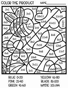 multiplication color by number worksheets 4th grade 16335 multiplication color by number theme 0 12 by lulu s teaches
