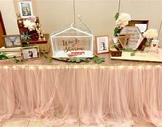 blush tulle table skirting props crafts