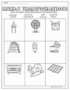energy transformations worksheet with images energy