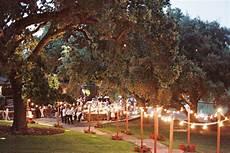 evening outdoor wedding reception1 elizabeth anne