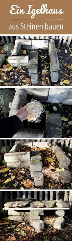 Igelhaus Bauen Stein - ein igelhaus aus steinen bauen diy gr 252 neliebe