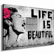 Graffiti Banksy Bild Auf Leinwand Kunstdruck