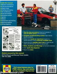 1991 2002 ford escort and mercury tracer automobile repair manual by haynes