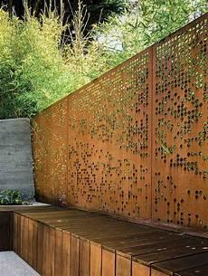 Cortenstahl Im Garten 57 Ideen Und Einsatzm 246 Glichkeiten