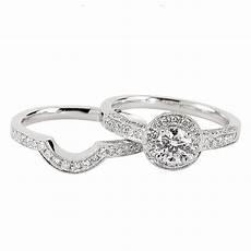 platinum diamond halo engagement ring shaped wedding ring