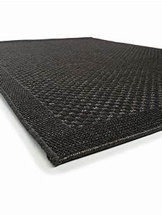 pflegeleichter teppich benuta in outdoor teppich naoto schwarz 80 215 150 cm