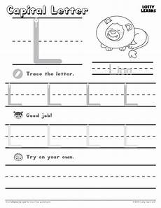 letter l alphabet worksheets 24555 capital letter l lotty learns lower letters lowercase a lettering