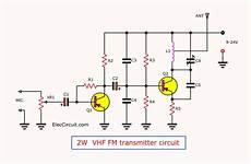 Fm Transmitter Circuit Diagram Schematic by Range Fm Transmitter Circuit 2 Km 88 108 Mhz Vhf