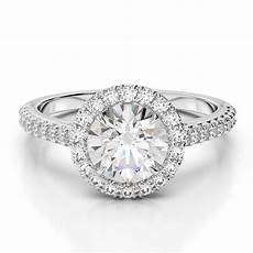 2 carat e vvs1 cut halo diamond wedding engagement ring ebay