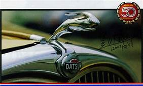 Datsun's Leaping Hare Hood Ornament Wishes You A