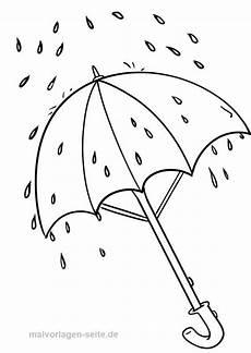 Gratis Malvorlagen Regenschirm Pdf Ausmalbild Regenschirm Bild