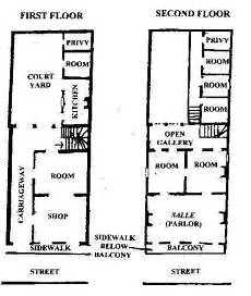 french creole house plans creole townhouse floorplan new orleans homes floor