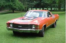 1972 chevy chevrolet 2 door el camino vintage classic muscle car pickup truck