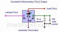 12 volt solenoid wiring diagram for f250 1990 constant to momentary output positive input positive output relay wiring diagram