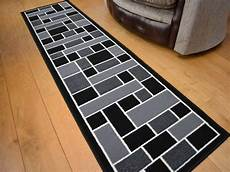 Kitchen Runner Rugs Black by Narrow Small Black Grey Floor Carpets