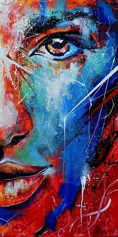 fire and ice abstract portrait painting on behance art