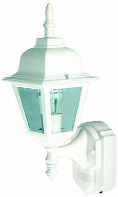 heath zenith white country cottage motion sensor outdoor security wall light at menards 174