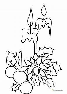 disegni di candele natalizie candela con decorazione natalizia per la festa di natale
