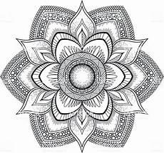Arabische Muster Malvorlagen Bilder Schwarze Blume Mandala Orientalische Muster