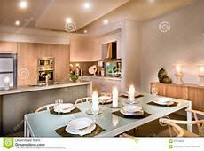 cucina e sala da pranzo sala da pranzo moderna e la cucina immagine stock