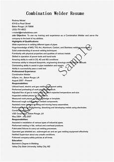 resume sles combination welder resume sle