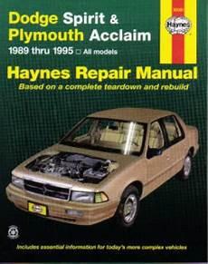 what is the best auto repair manual 1995 lexus gs spare parts catalogs haynes dodge spirit plymouth acclaim 1989 1995 auto repair manual