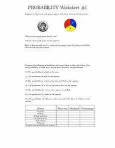 probability worksheet 8th grade 5999 probability worksheets worksheet for 6th 8th grade lesson planet