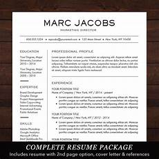 modern resume template cv template for pages word professional design free cover letter