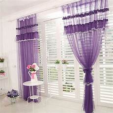lila gardinen purple lace curtains romantische lila raffen spitze