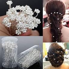 Floral Hair Pins Bridal 40pcs wedding hair pins pearl flower bridal