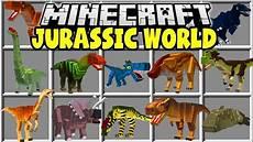 Jurassic World Malvorlagen Mod Minecraft Jurassic World Mod Trex Velociraptors