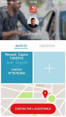 direct assurances auto direct assurance service mobile auto dans l app store