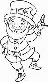 Dancing Leprechaun Coloring Pages Free Printable