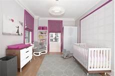 wandgestaltung babyzimmer mädchen pink and gray nursery contemporary nursery z design