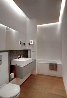 Badezimmer Modern Einrichten Abgeh 228 Ngte Decke Indirekte