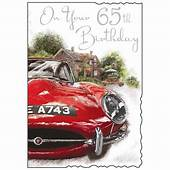Male 65th Birthday Card  Karenza Paperie