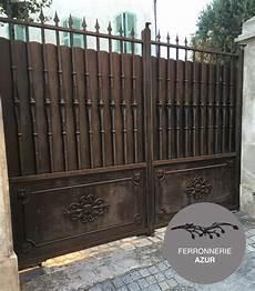 Fabrication Porte Portail Et Portillon En Fer Plein 06