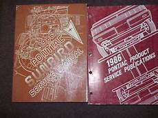 free car repair manuals 1986 pontiac sunbird security system 1986 pontiac sunbird service shop repair manual set oem w publications book ebay