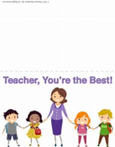 thank you card for teachers template appreciation week free printable thank you card