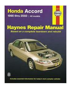 small engine service manuals 2000 honda accord spare parts catalogs 1998 2002 honda accord haynes repair manual