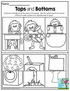 cut and paste motor skills worksheets 20651 tops and bottoms puzzles cut out the pieces and match the tops to the bottoms great for