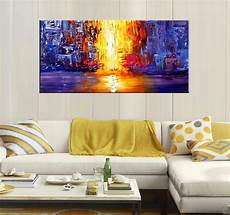 grande toile moderne lava river modern painting artwall and co