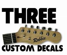 acoustic guitar decals 3 x stickers personalise custom name electric acoustic guitar headstock decal ebay