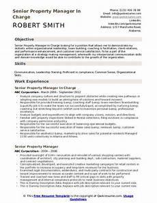 senior property manager resume sles qwikresume