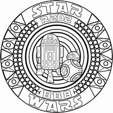 mandala bb8 r2d2 mandalas coloring pages for adults