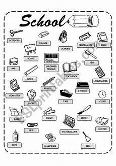 colors and school objects worksheets 12788 school objects esl worksheet by helen vin